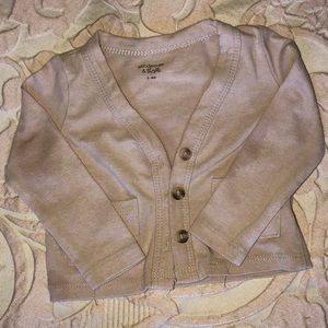 Beige gender neutral cardigan